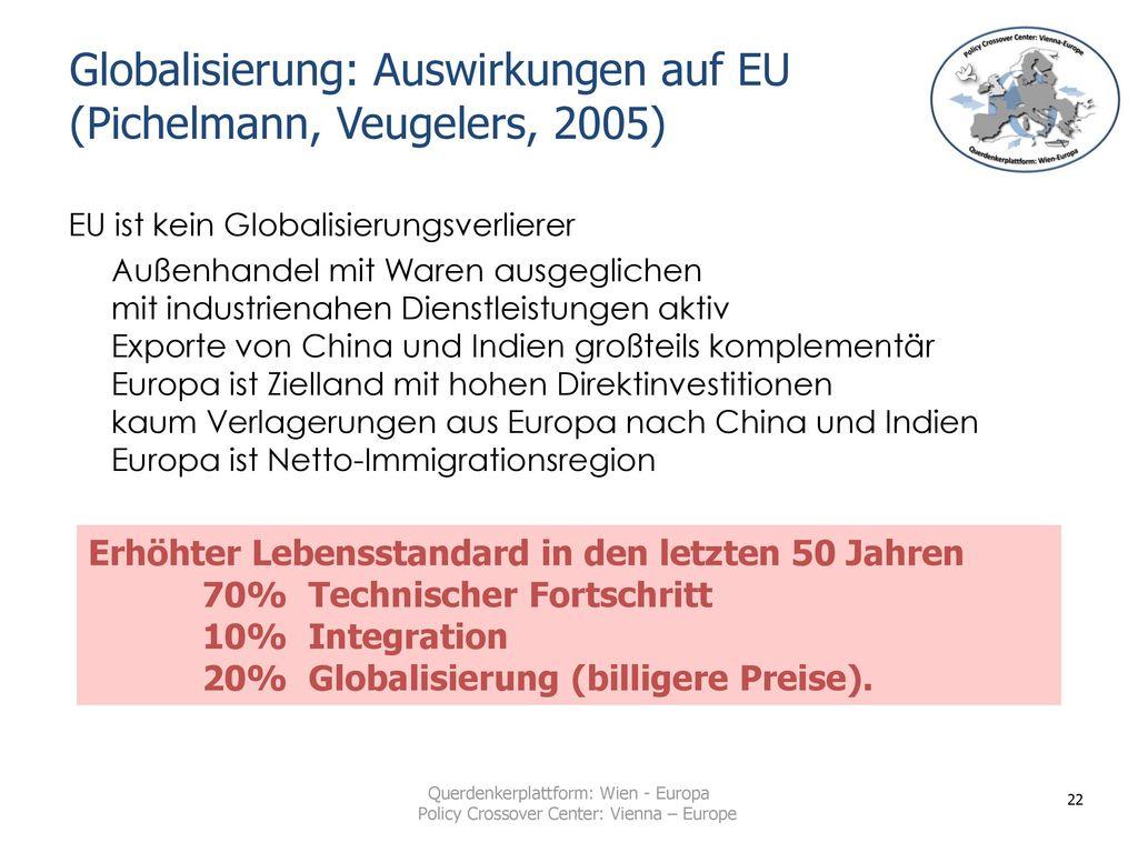 Globalisierung: Auswirkungen auf EU (Pichelmann, Veugelers, 2005)
