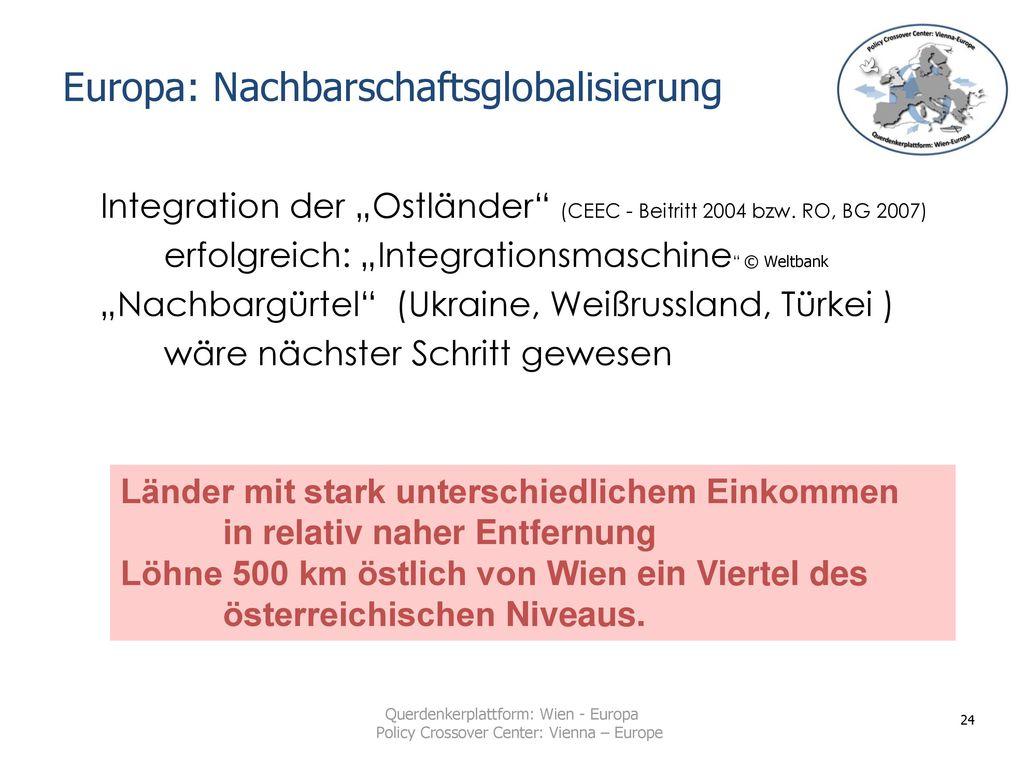 Europa: Nachbarschaftsglobalisierung