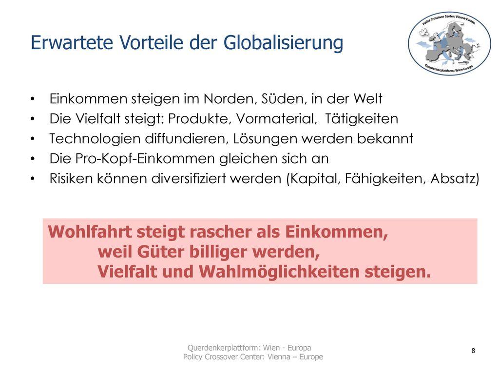 Erwartete Vorteile der Globalisierung