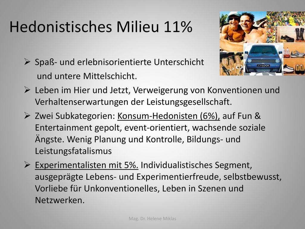Hedonistisches Milieu 11%