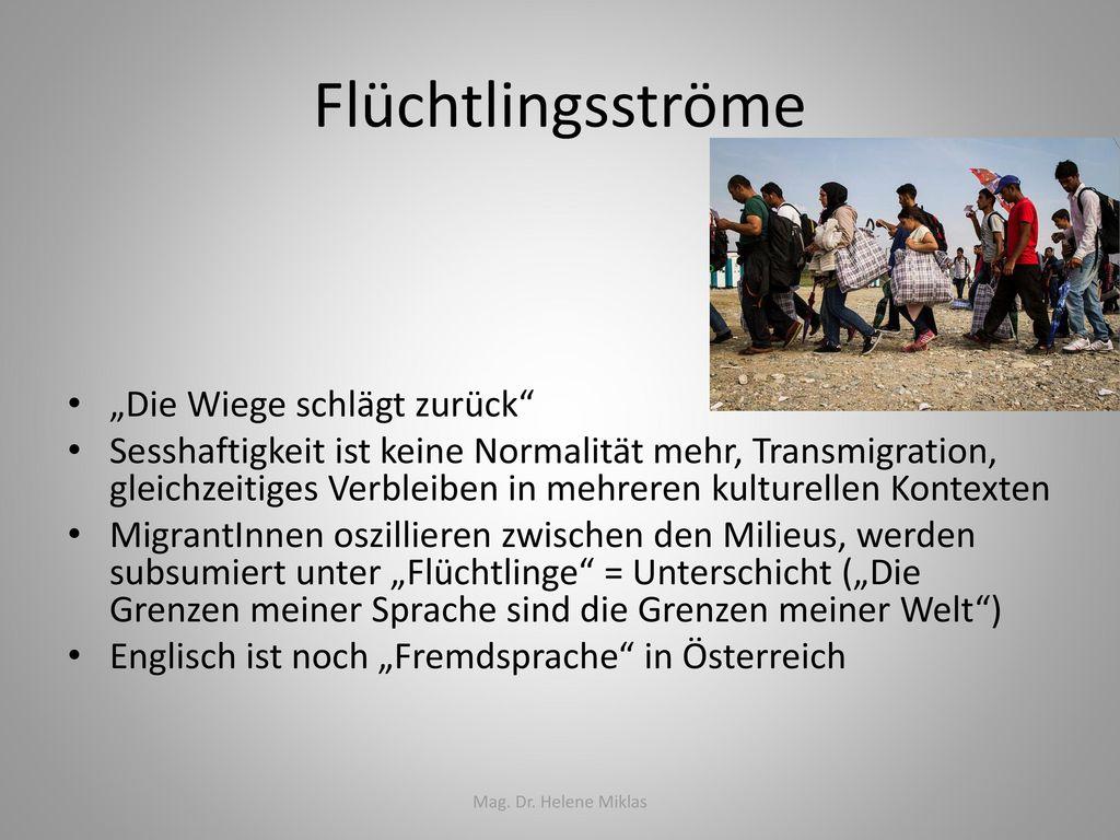 """Flüchtlingsströme """"Die Wiege schlägt zurück"""