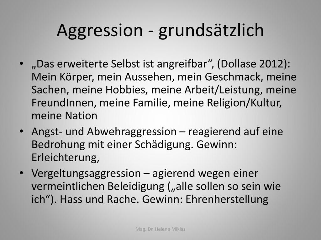 Aggression - grundsätzlich