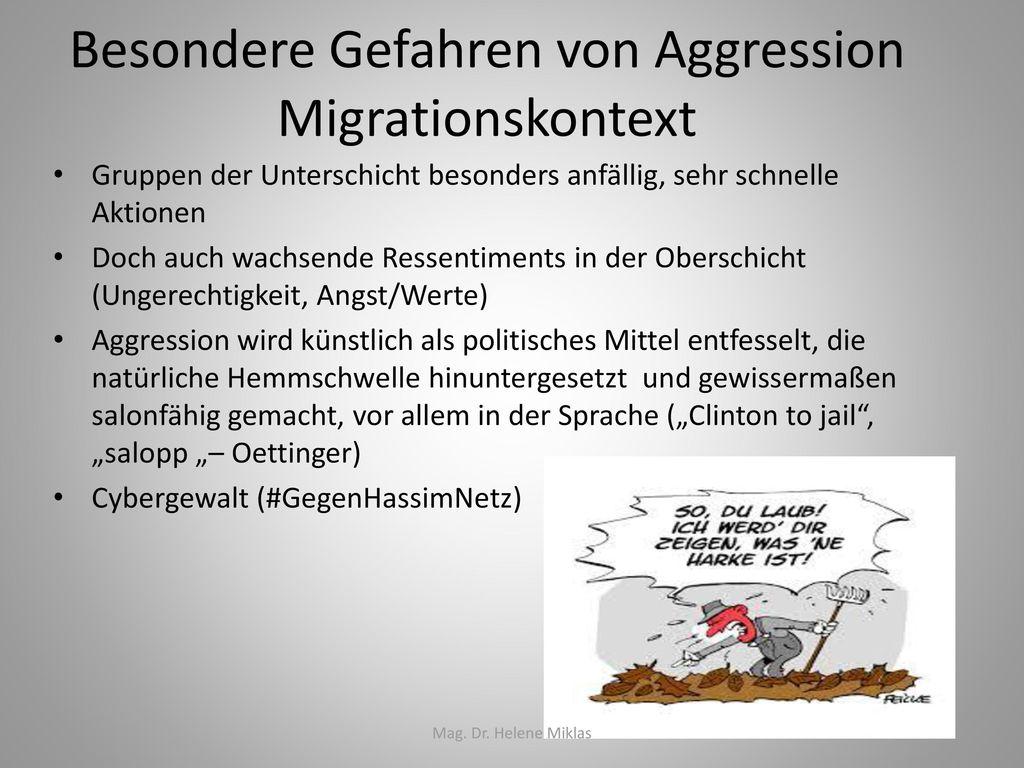 Besondere Gefahren von Aggression Migrationskontext