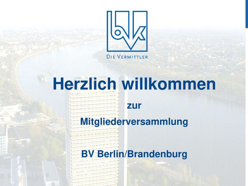 Herzlich willkommen zur Mitgliederversammlung BV Berlin/Brandenburg