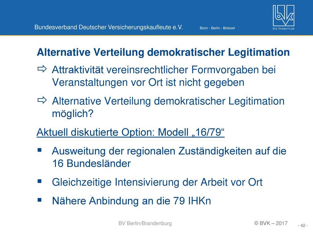 Alternative Verteilung demokratischer Legitimation