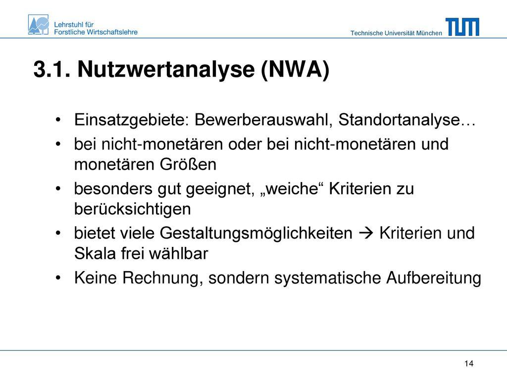 3.1. Nutzwertanalyse (NWA)