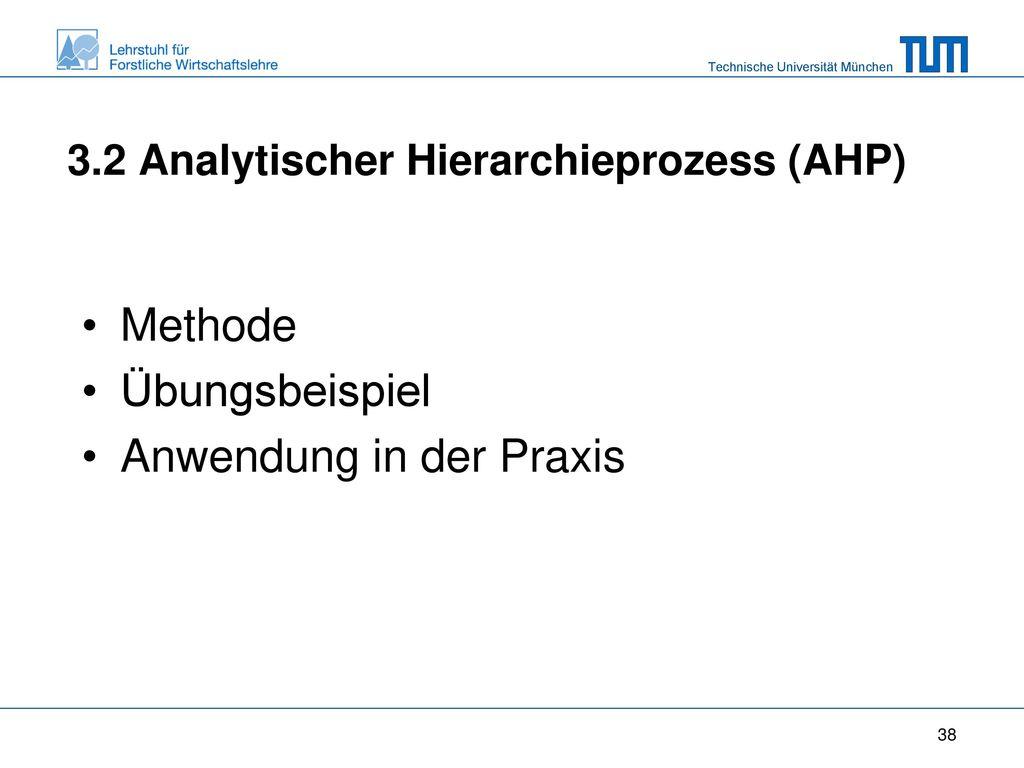 3.2 Analytischer Hierarchieprozess (AHP)