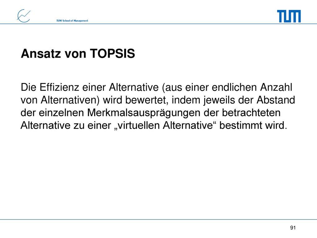Ansatz von TOPSIS