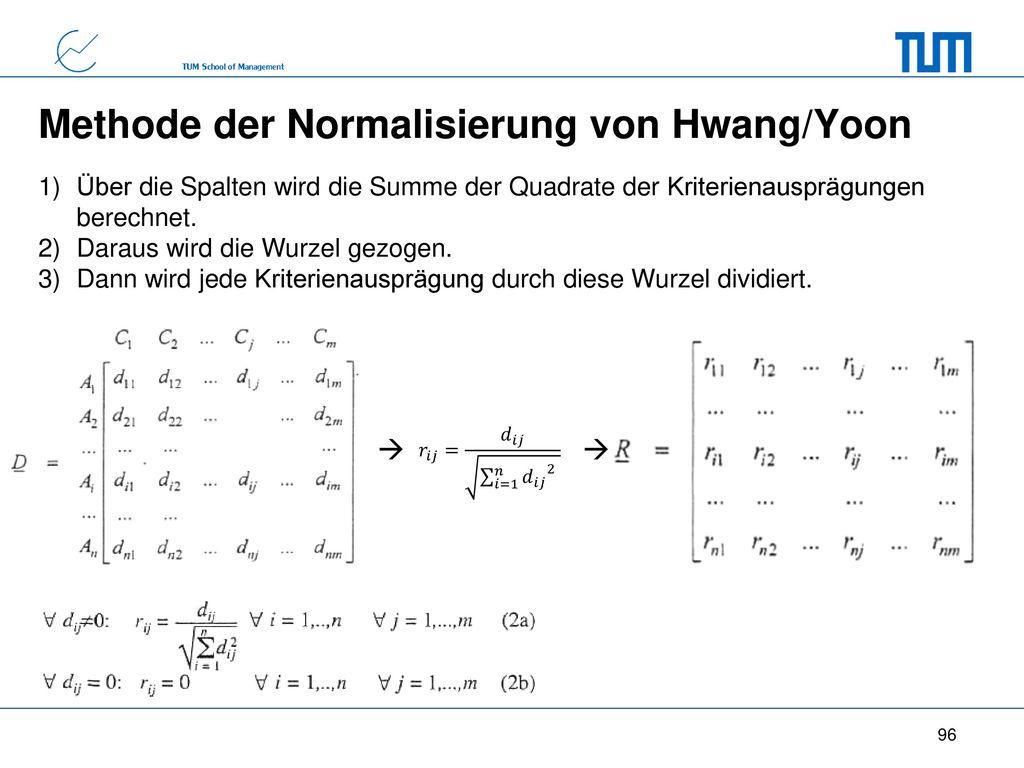 Methode der Normalisierung von Hwang/Yoon