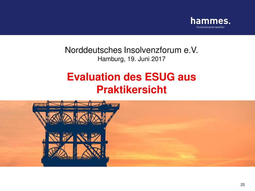 Evaluation des ESUG aus Praktikersicht