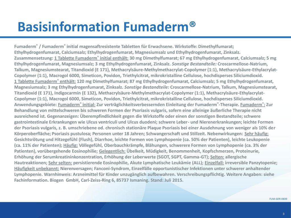 Basisinformation Fumaderm®