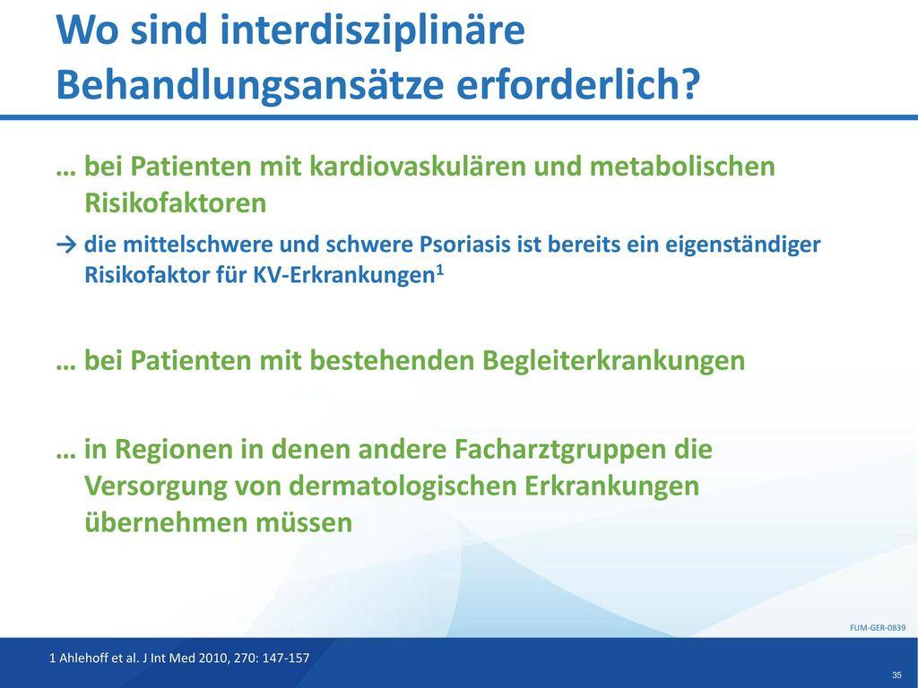 Wo sind interdisziplinäre Behandlungsansätze erforderlich