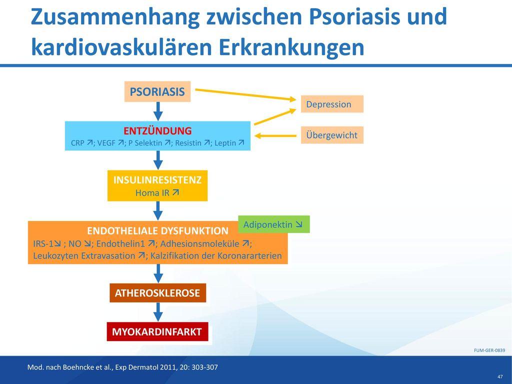 Zusammenhang zwischen Psoriasis und kardiovaskulären Erkrankungen