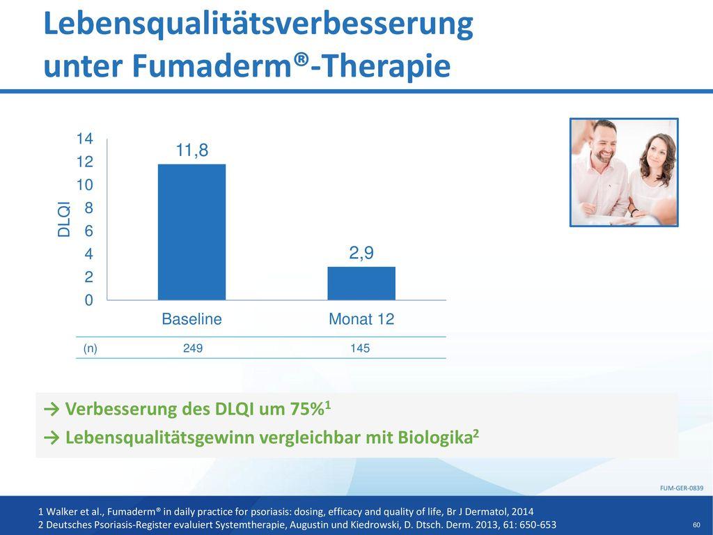 Lebensqualitätsverbesserung unter Fumaderm®-Therapie