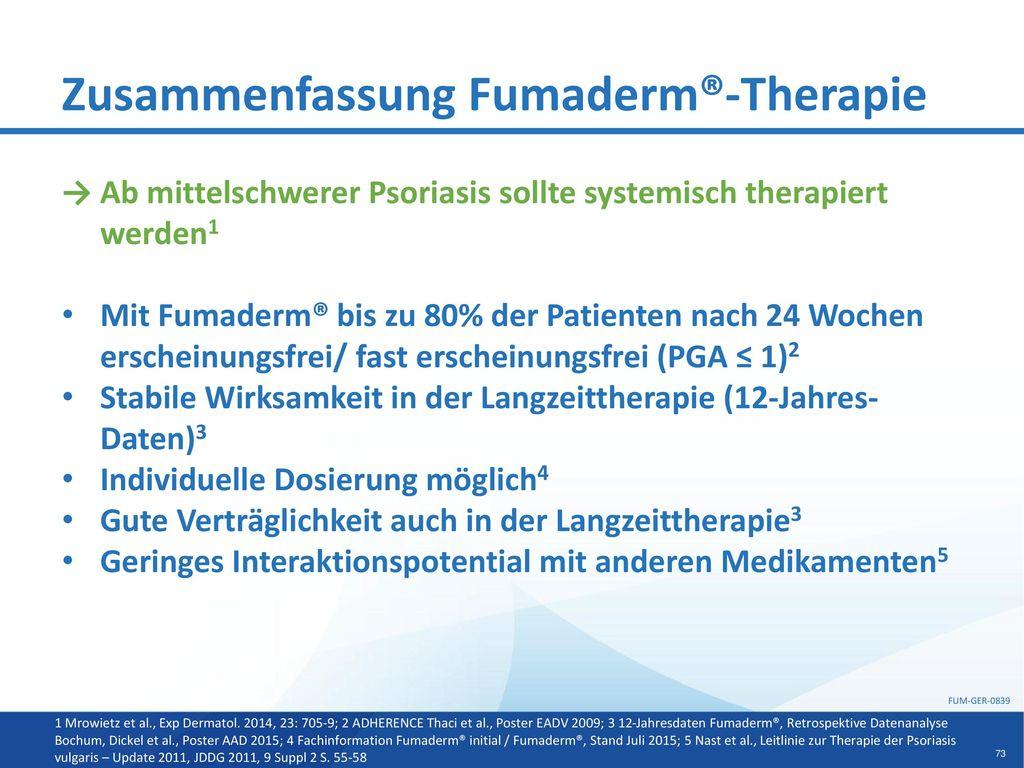 Zusammenfassung Fumaderm®-Therapie