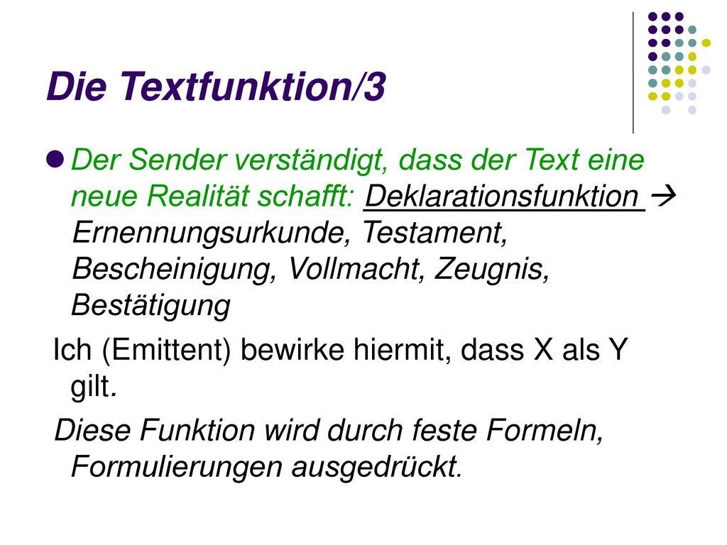 Die Textfunktion/3