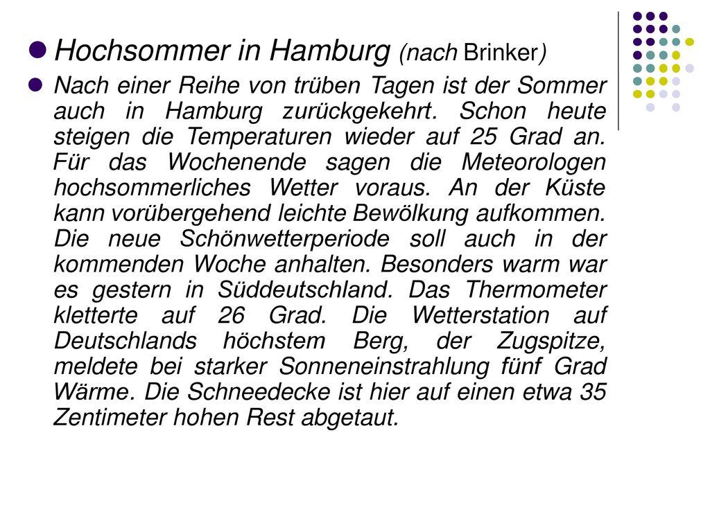 Hochsommer in Hamburg (nach Brinker)