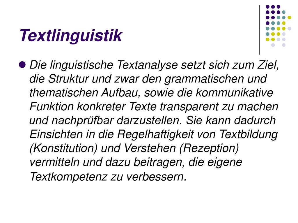 Textlinguistik