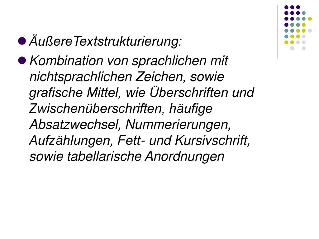 ÄußereTextstrukturierung: