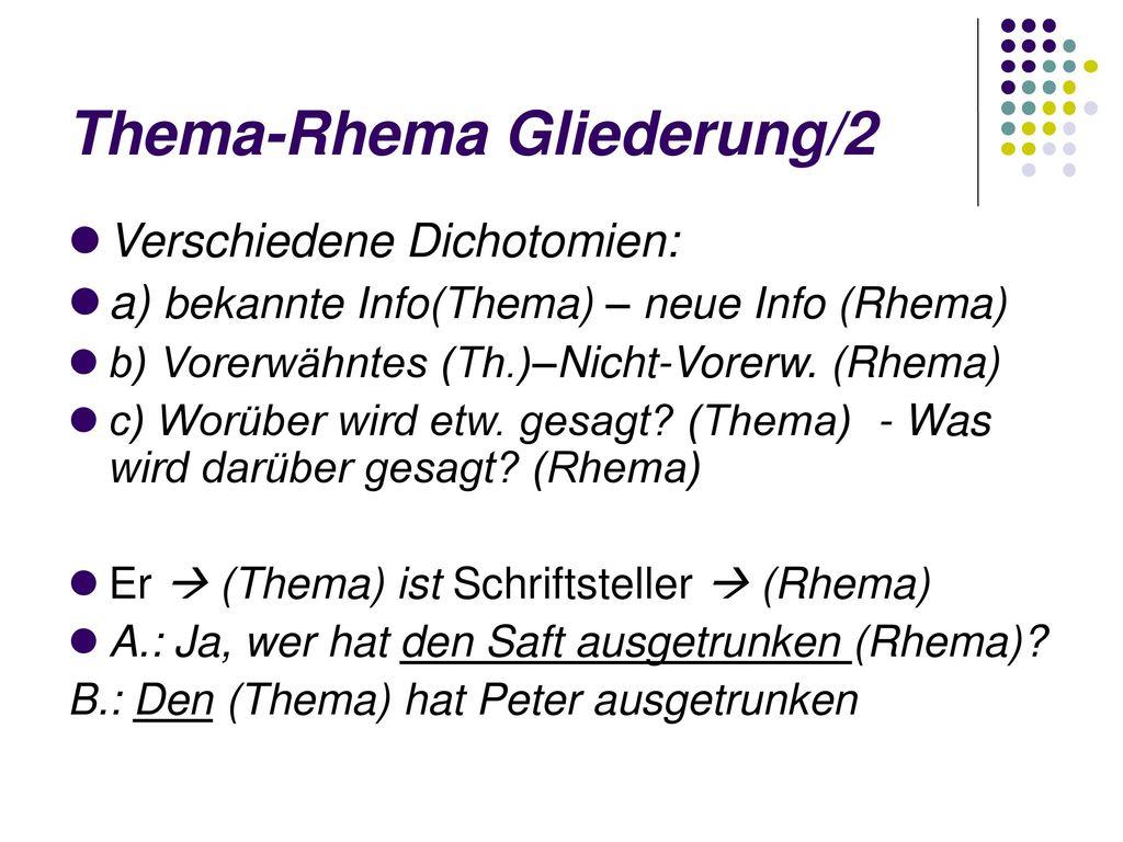 Thema-Rhema Gliederung/2