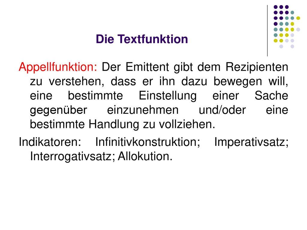 Die Textfunktion