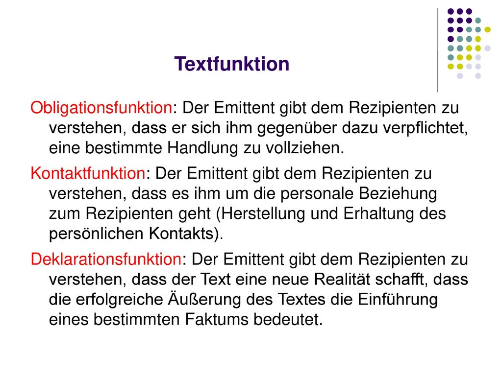 Textfunktion