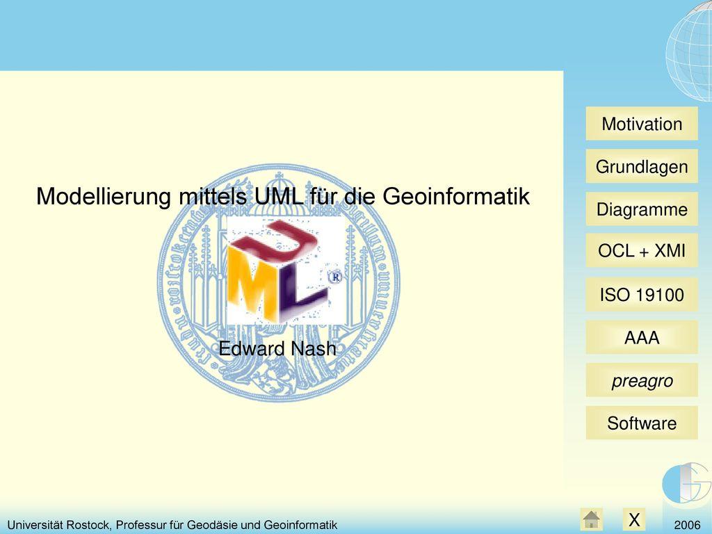 Modellierung mittels UML für die Geoinformatik
