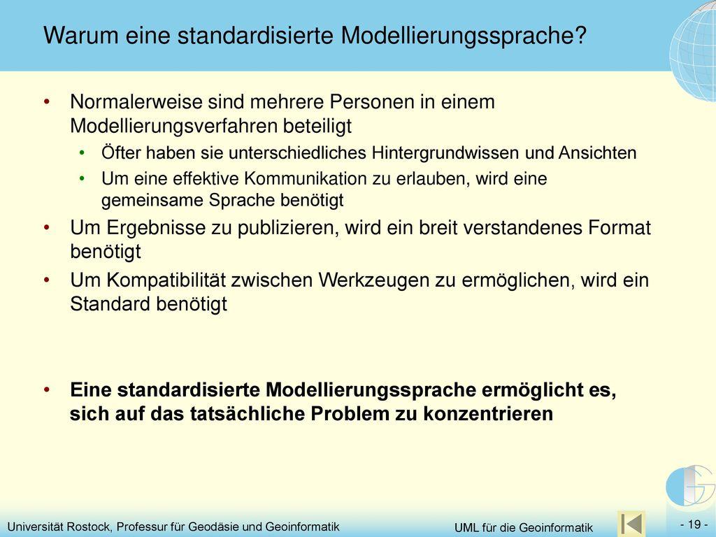 Warum eine standardisierte Modellierungssprache