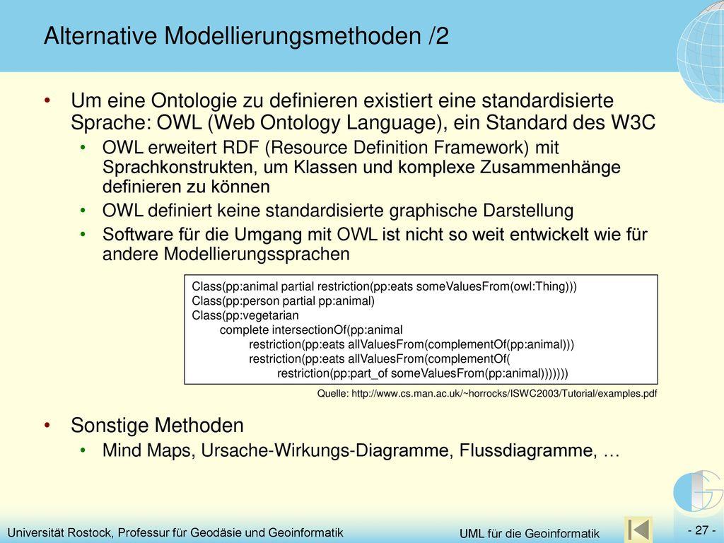 Alternative Modellierungsmethoden /2