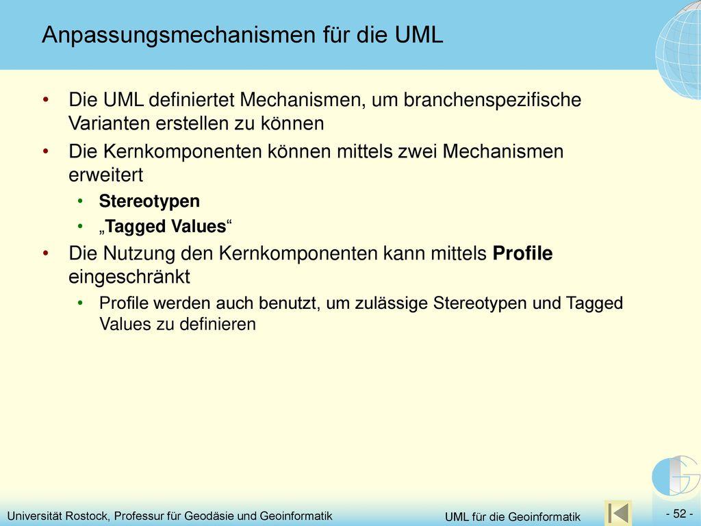 Anpassungsmechanismen für die UML