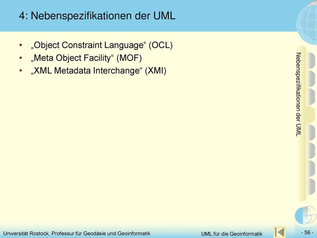 4: Nebenspezifikationen der UML