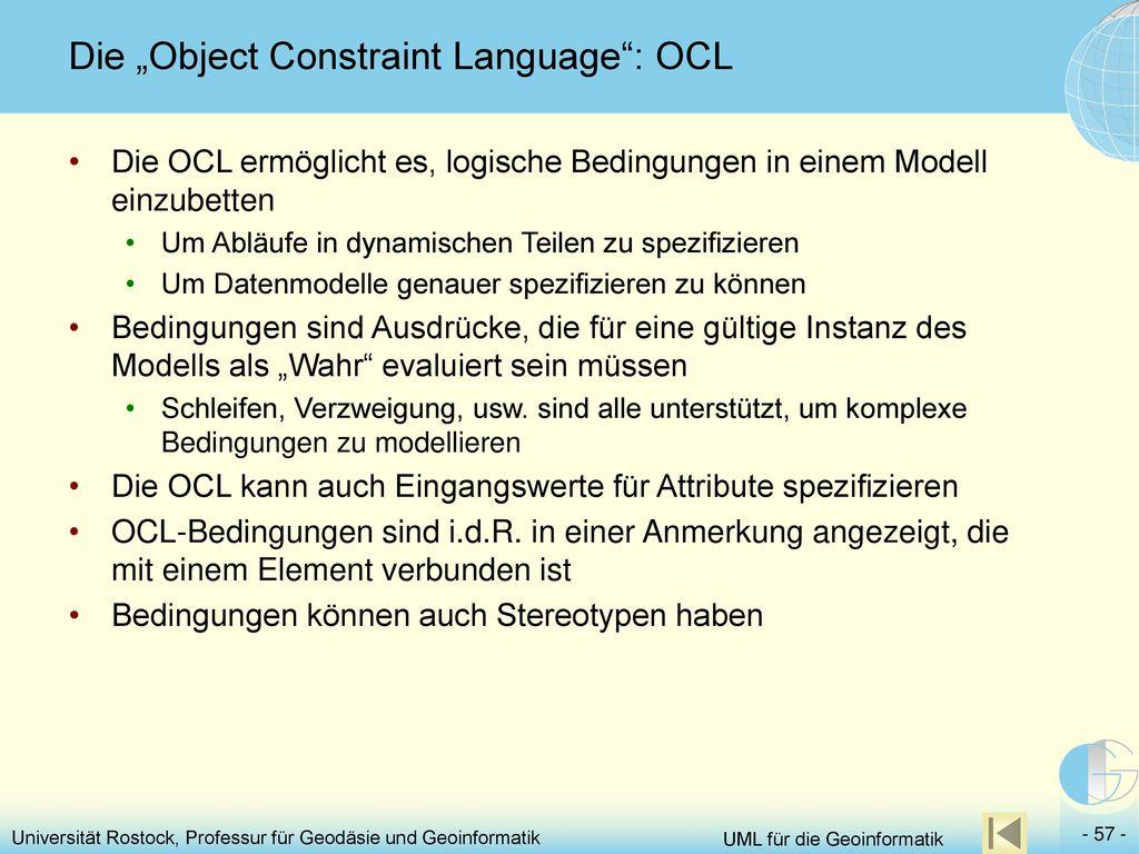 "Die ""Object Constraint Language : OCL"