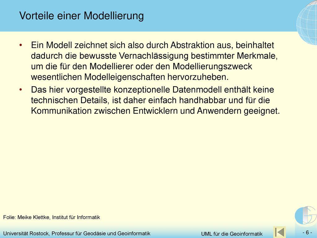 Vorteile einer Modellierung