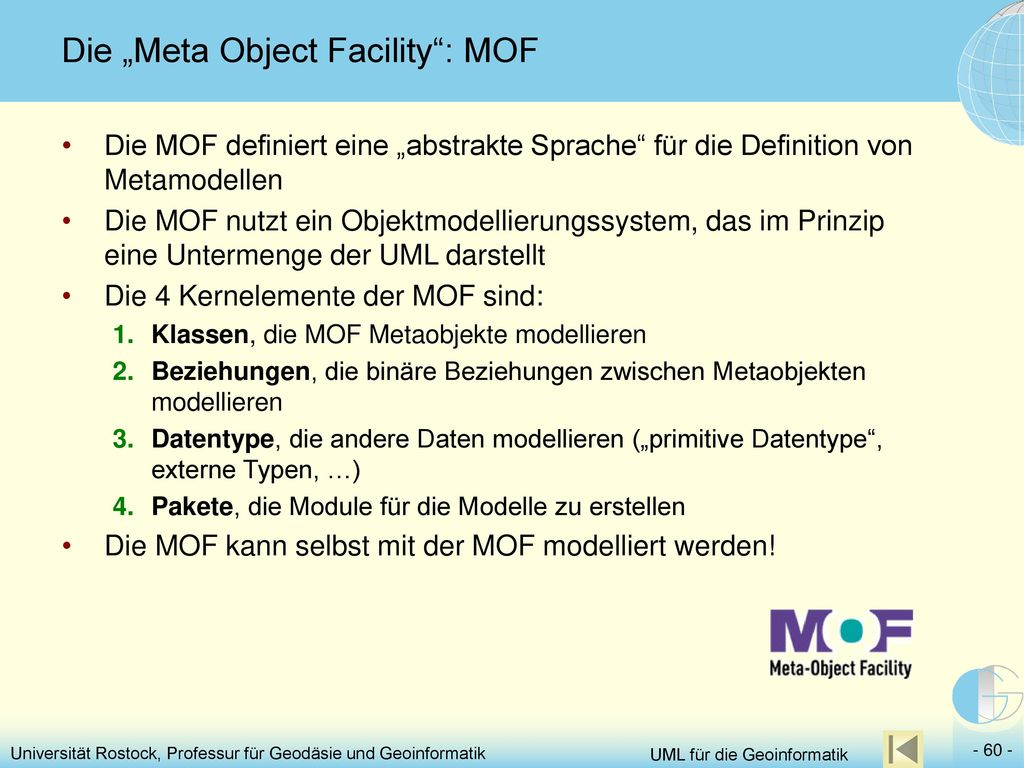 "Die ""Meta Object Facility : MOF"