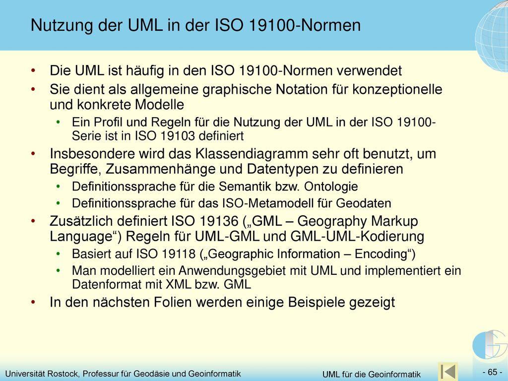 Nutzung der UML in der ISO 19100-Normen