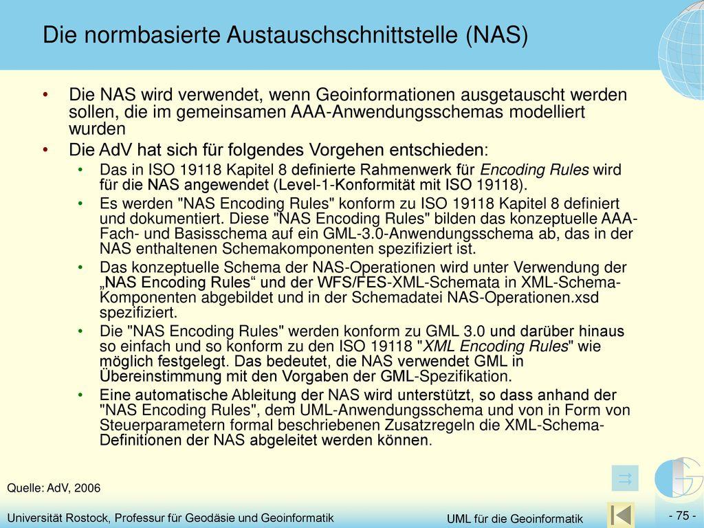 Die normbasierte Austauschschnittstelle (NAS)