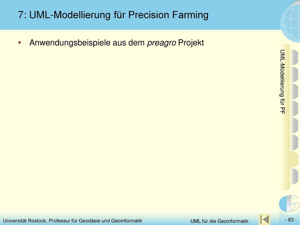 7: UML-Modellierung für Precision Farming