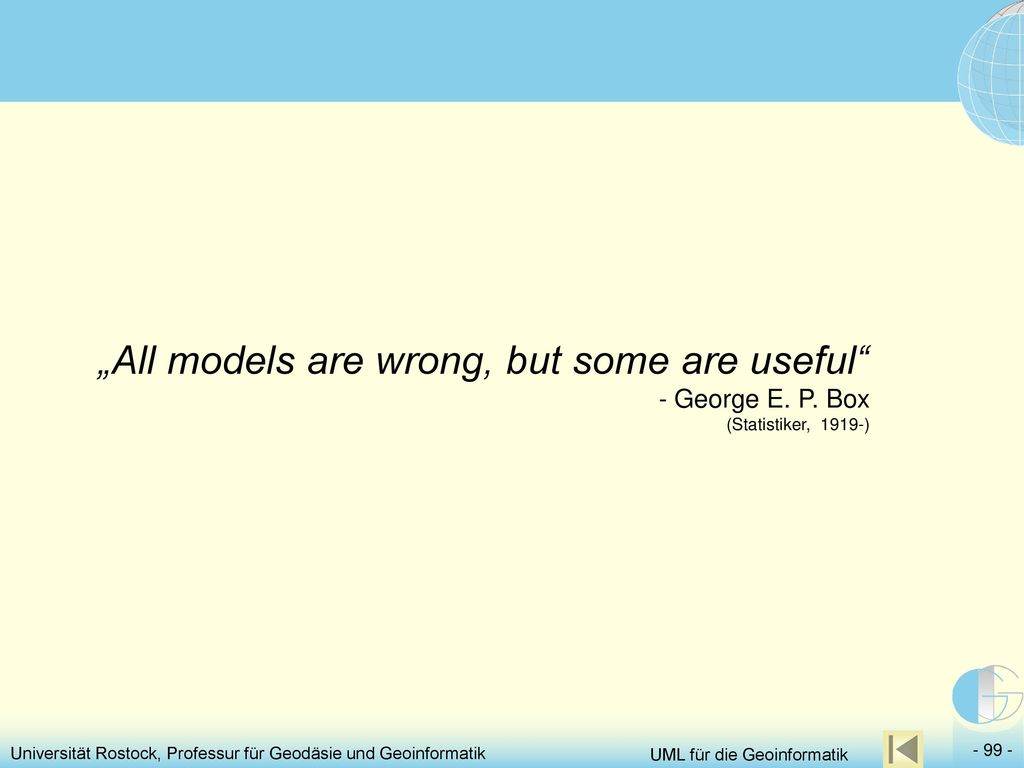 """All models are wrong, but some are useful - George E. P"