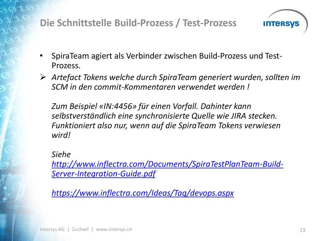 Die Schnittstelle Build-Prozess / Test-Prozess