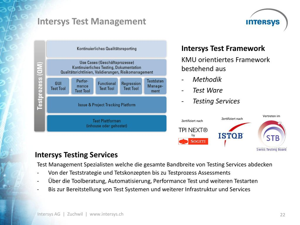 Intersys Test Management