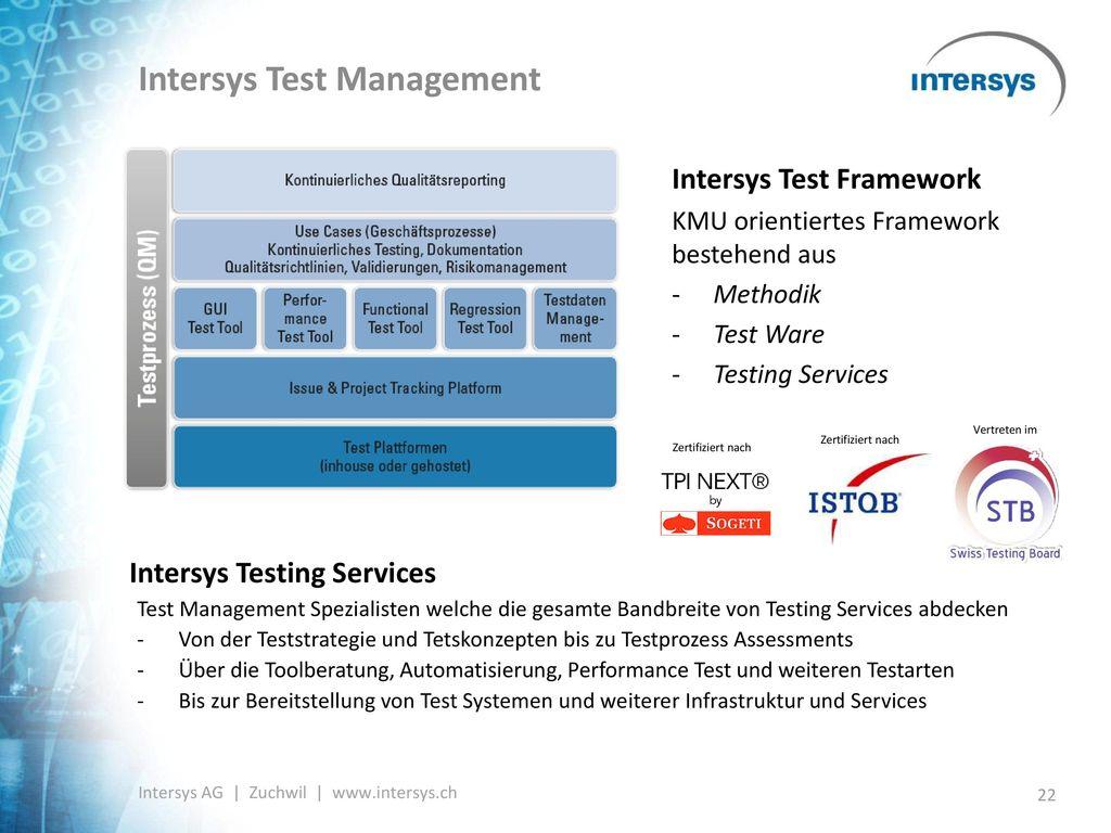 Intersys Test Management