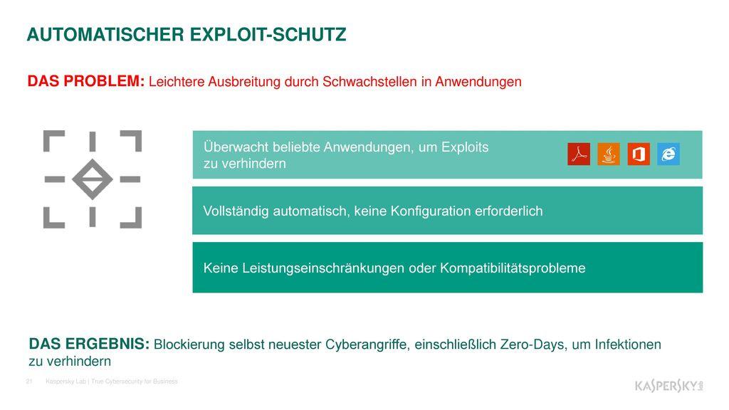 AUTOMATISCHER EXPLOIT-SCHUTZ
