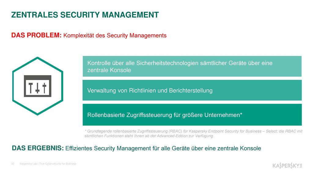 ZENTRALES SECURITY MANAGEMENT