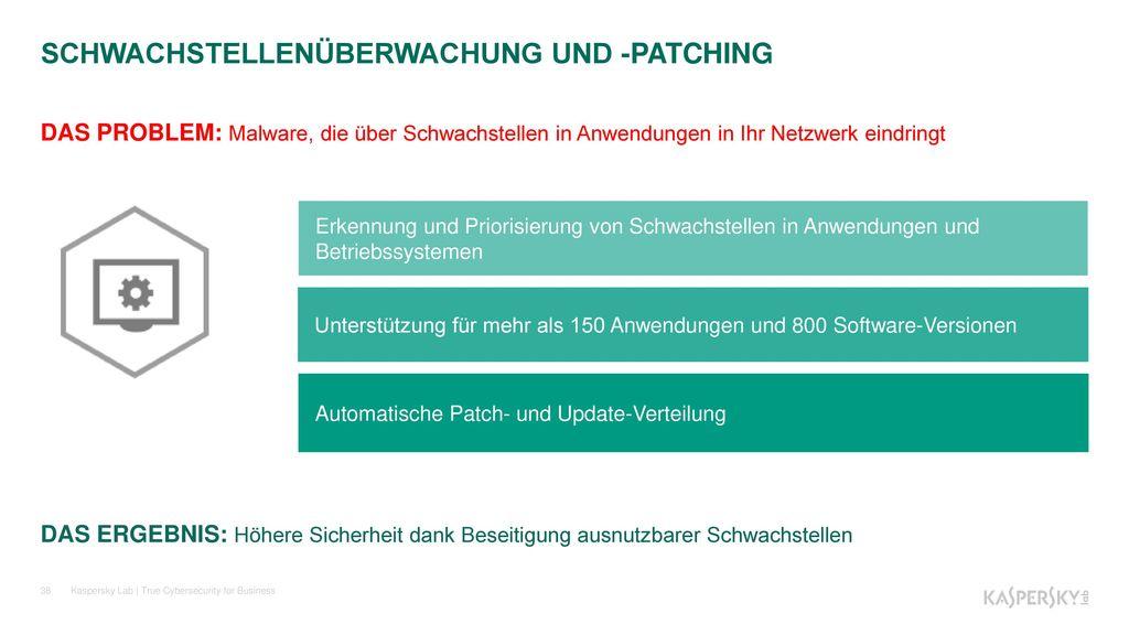SCHWACHSTELLENÜBERWACHUNG UND -PATCHING