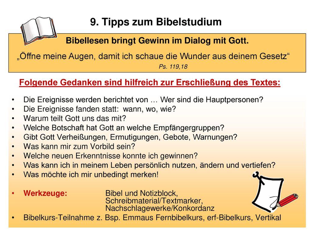 9. Tipps zum Bibelstudium