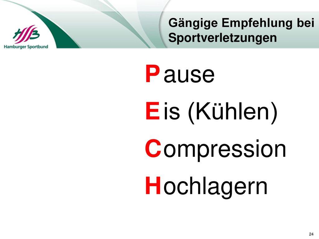 Gängige Empfehlung bei Sportverletzungen