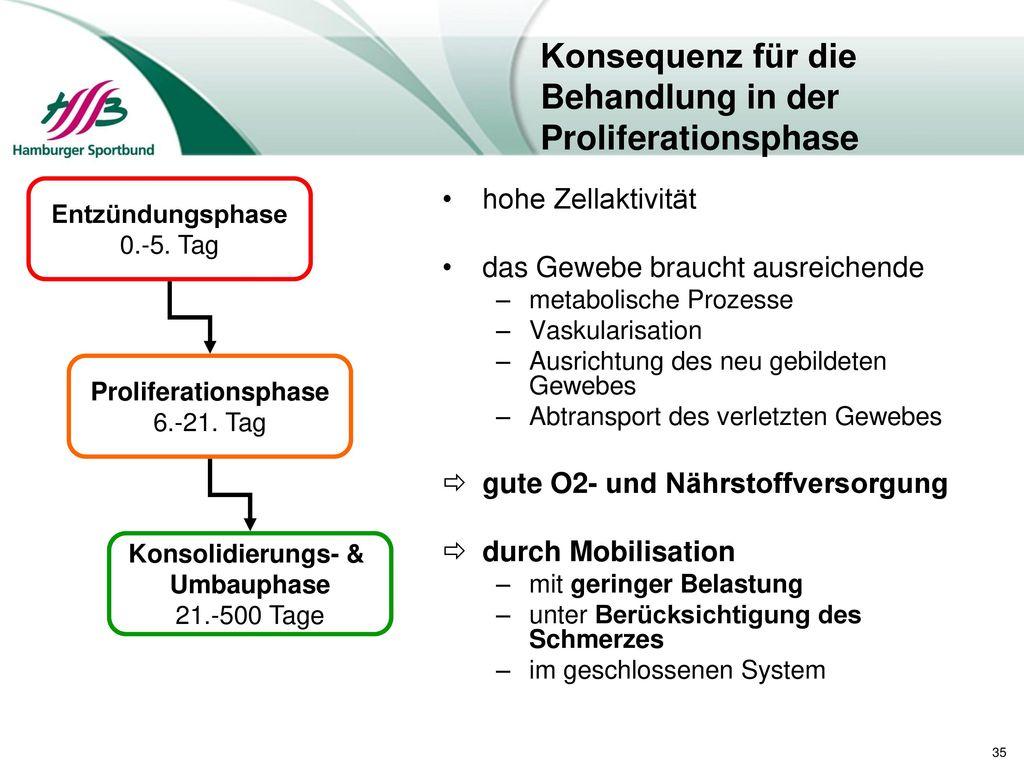 Konsequenz für die Behandlung in der Proliferationsphase