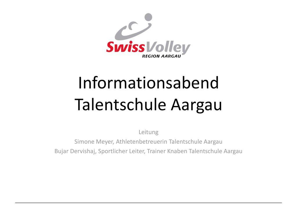 Informationsabend Talentschule Aargau