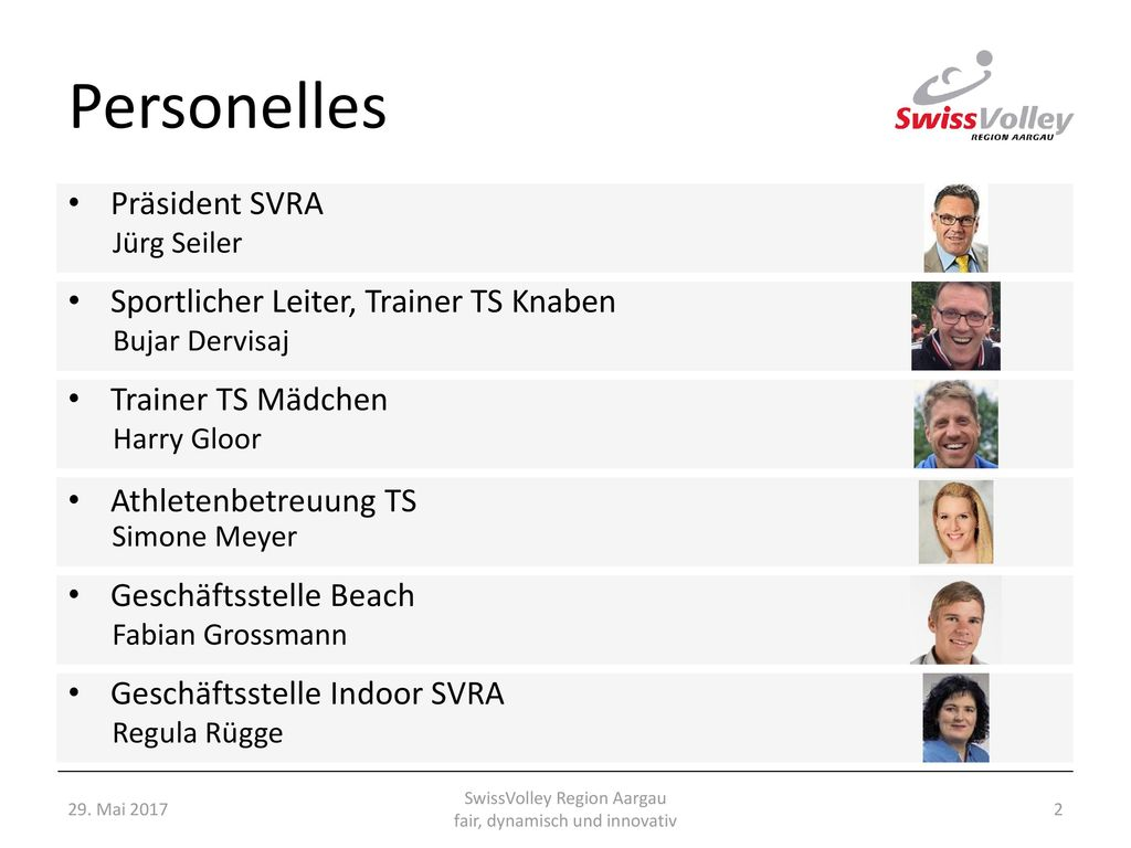 SwissVolley Region Aargau fair, dynamisch und innovativ