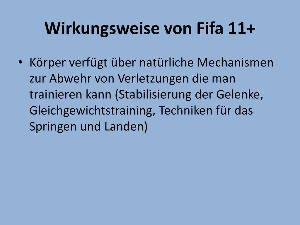 Wirkungsweise von Fifa 11+